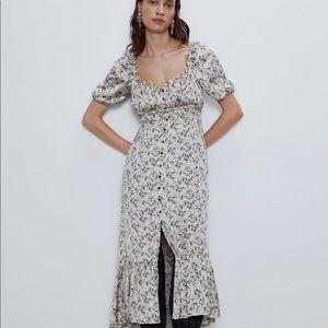 Satin floral Zara dress